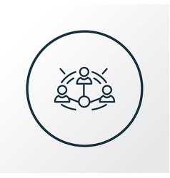Affiliate marketing icon line symbol premium vector