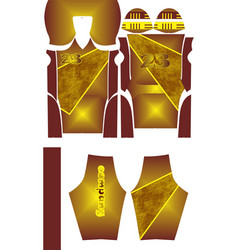 American football jersey t-shirt sport design vector