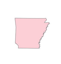 Arkansas map isolated on white background vector