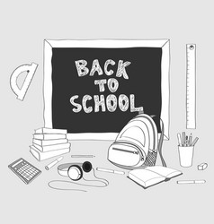 Back to school handdrawing 2 vector