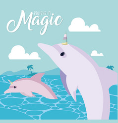 believe in magic vector image