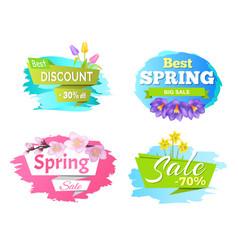 best discount spring big sale 50 70 posters set vector image