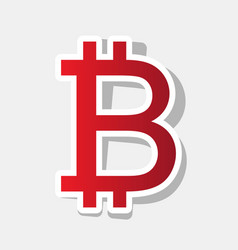 Bitcoin sign new year reddish icon with vector
