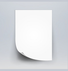 blank white 3d paper canvas white blank vector image