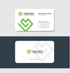 Business card for volunteer organizations vector