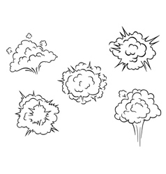 Cartoon clouds and explosions vector