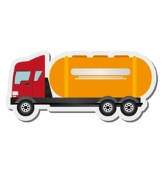 Cement truck icon vector