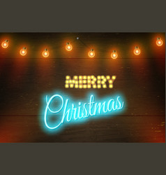 Christmas composition on dark wooden vector