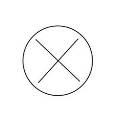 close icon vector image