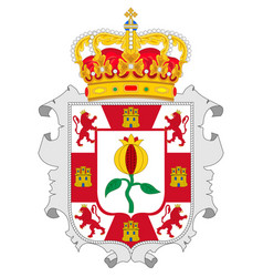 Coat arms granada is a province in vector