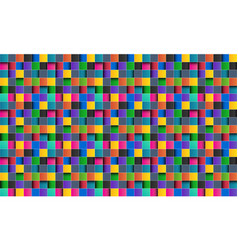 colorful square abstract background vector image