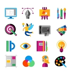 Creative Designer Icons Set vector image