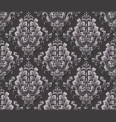 damask seamless emboss pattern background vector image