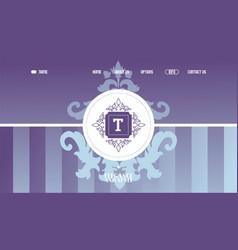 decorative emblem for company website design vector image