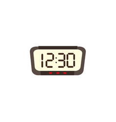 digital alarm clock radio front view vector image
