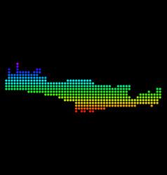 Dotted pixel spectrum crete island map vector