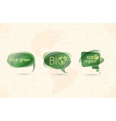 Eco chat bubbles vector