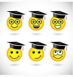 education smile set vector image