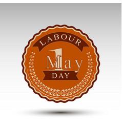 emblem for labour day vector image