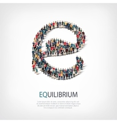 equilibrium people sign 3d vector image