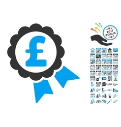Featured Pound Price Label Icon With 2017 Year vector