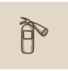 Fire extinguisher sketch icon vector image