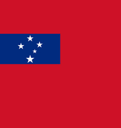 Flag in colors of samoa image vector