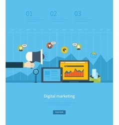 Flat design concepts for business vector image vector image