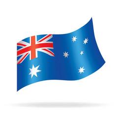 flying australian flag vector image