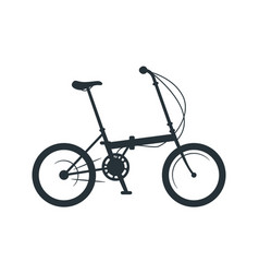 Folding bicycle silhouette vector
