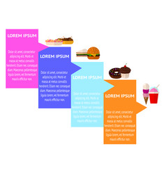 Food infographic bacgkround vector