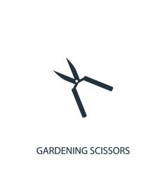 Gardening scissors icon simple gardening element vector