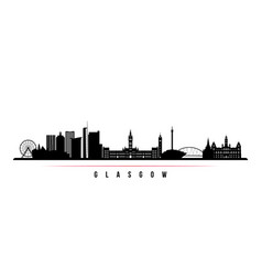 glasgow city skyline horizontal banner vector image