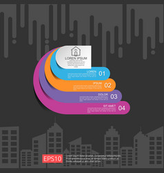 Half circle for business concept infographic vector