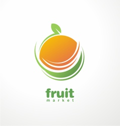 Healthy food logo design concept vector image
