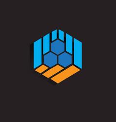 hexagon business company logo image vector image
