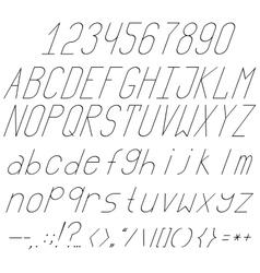 High and thin italics vector