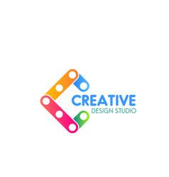 icon for creative design studio vector image