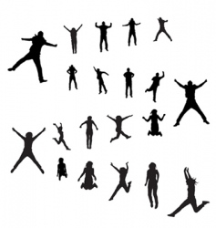 jumping peoples vector image