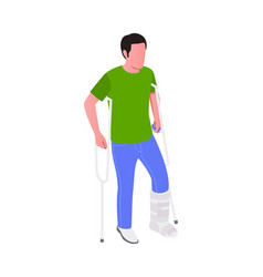 Leg injury vector