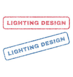 Lighting design textile stamps vector