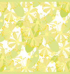 linden bloom hand drawn seamless pattern vector image