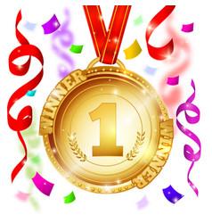 Medal of winner design vector