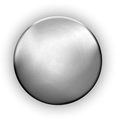 Metallic rough blank button textured silver vector