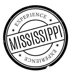 Mississippi stamp rubber grunge vector image