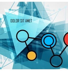 Modern abstract geometrical triangle design vector