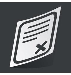 Monochrome document sticker vector