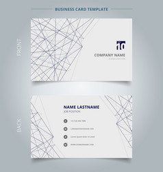 name card business template lines structure on vector image
