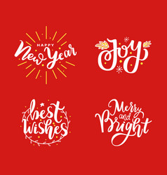 new year joy and best wishes merry holidays vector image