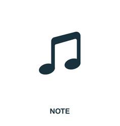 note icon line style icon design ui vector image